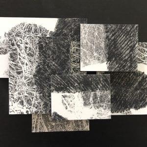 Repose,Mason, assemblage,12x16,black panel,$325