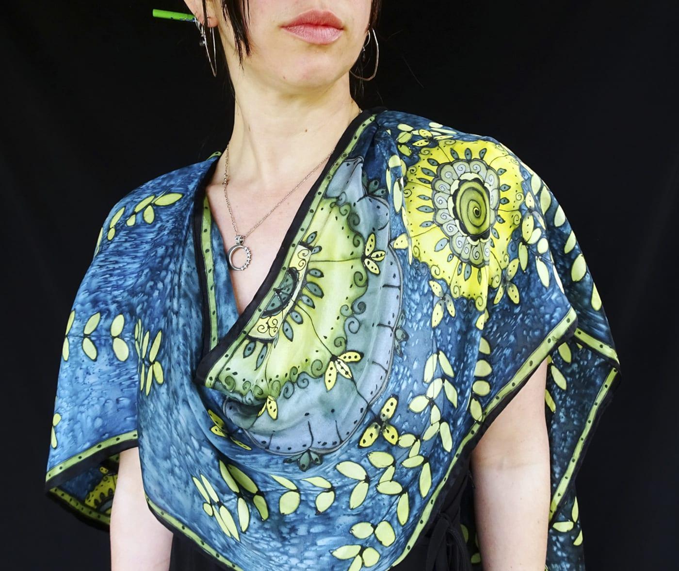 Mandala Silk Scarf