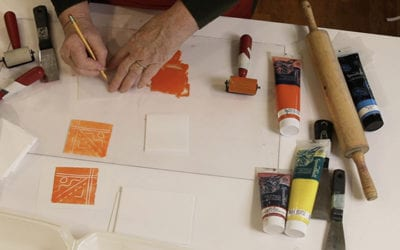 Scratchfoam Printing with Water Soluble Inks